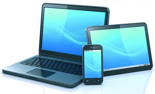 スマートフォン・タブレットに対応した ホームページを制作します。
